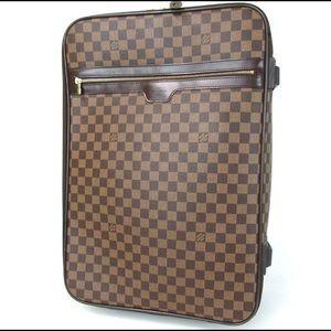LOUIS VUITTON Damier Ebene Pegas 55 Travel Bag